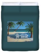 Beach Chairs No. 1 Duvet Cover