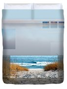 Beach Collage Duvet Cover