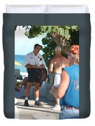 Beach Cops And Christ Duvet Cover
