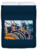 Beach Cruisers At Dawn Duvet Cover