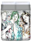 Beach, Digital Duvet Cover