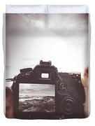 Beach Digital Photography Duvet Cover