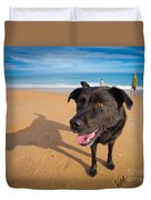 Beach Dog Duvet Cover