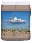 Beach Dune Clouds Jersey Shore Duvet Cover