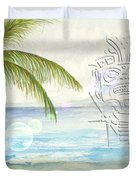 Beach Etching Duvet Cover by Darren Cannell