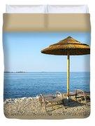 Beach For Two Duvet Cover