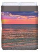 Beach Girl And Sunset Duvet Cover
