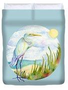 Beach Heron Duvet Cover