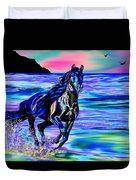 Beach Horse Duvet Cover