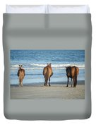 Beach Horses Duvet Cover