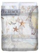 Beach House Bath Duvet Cover