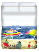 Beach House Window Duvet Cover