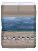 Beach Houses On North Sea Duvet Cover