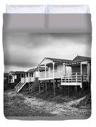Beach Huts North Norfolk Uk Duvet Cover by John Edwards