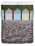 Beach Huts X Duvet Cover