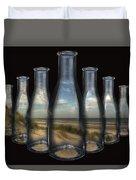 Beach In Bottles Duvet Cover