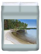 Beach In Muskoka Duvet Cover