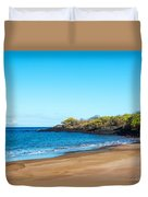 Beach In The Galapagos Duvet Cover