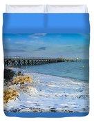 Beach La Tranche Sur Mer Duvet Cover