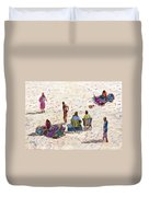 Beach Life Cornwall Duvet Cover