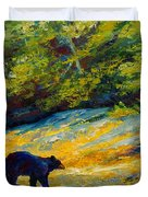Beach Lunch - Black Bear Duvet Cover