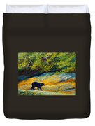 Beach Lunch - Black Bear Duvet Cover