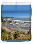 Beach Near Cape Foulwind Duvet Cover