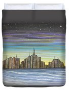 Beach Night Life Duvet Cover