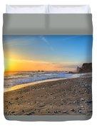 Beach Of Velella Duvet Cover