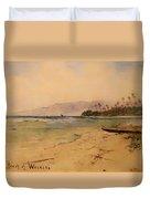 Beach Of Waikiki  Duvet Cover
