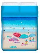 Beach Painting - A Golden Day Duvet Cover