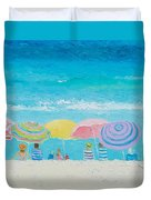 Beach Painting - Color Of Summer Duvet Cover