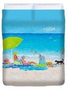 Beach Painting - Lazy Beach Day Duvet Cover