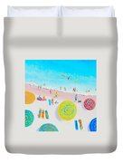 Beach Painting - Lazy Lingering Days Duvet Cover