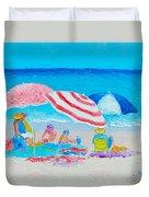 Beach Painting - Summer Beach Vacation Duvet Cover