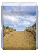 Beach Path To The Sea Duvet Cover