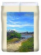 Beach Path Wisdom Duvet Cover