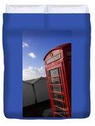 Beach Phonebox Duvet Cover