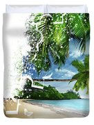 Beach Puzzle Duvet Cover