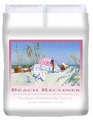 Beach Recliner Poster Duvet Cover
