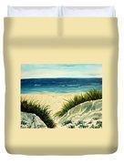 Beach Sand Dunes Acrylic Painting Duvet Cover