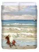 Beach Scene Tangier Duvet Cover