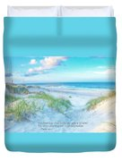 Beach Scripture Verse  Duvet Cover