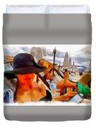 Beach Sea Girl Sun Duvet Cover