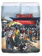 Beach Show Jamaica Duvet Cover