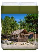 Beach Side Nipa Hut Duvet Cover