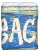 Beach Sign Duvet Cover