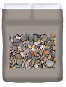 Beach Stones And Pebbles Duvet Cover by Sophie De Roumanie