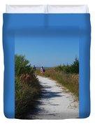 Beach Stroll Duvet Cover