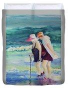 Beach Strollers II Duvet Cover